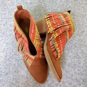 VOLATILE FRINGED ANKLE BOOTIE